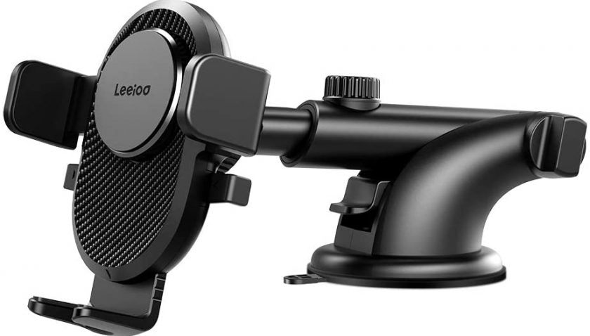 50% Discount for LEEIOO Dashboard & Windshield Mount Car Cell Phone Holder with Automatic Telescopic Fixed