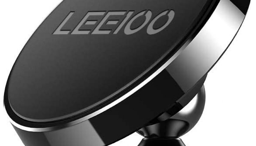 50% Discount for LEEIOO 360 Degree Rotating Mini Magnetic Ball Car Mount Cell Phone Holder