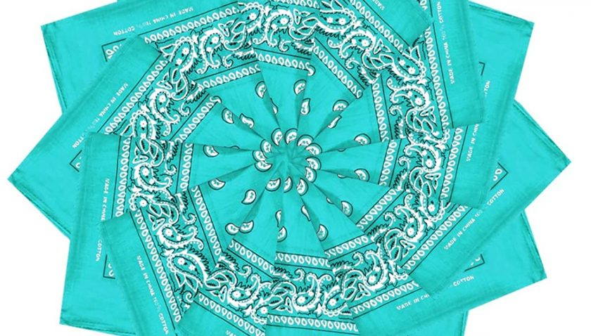 50% off for Double Sided Print Paisley Bandana Scarf