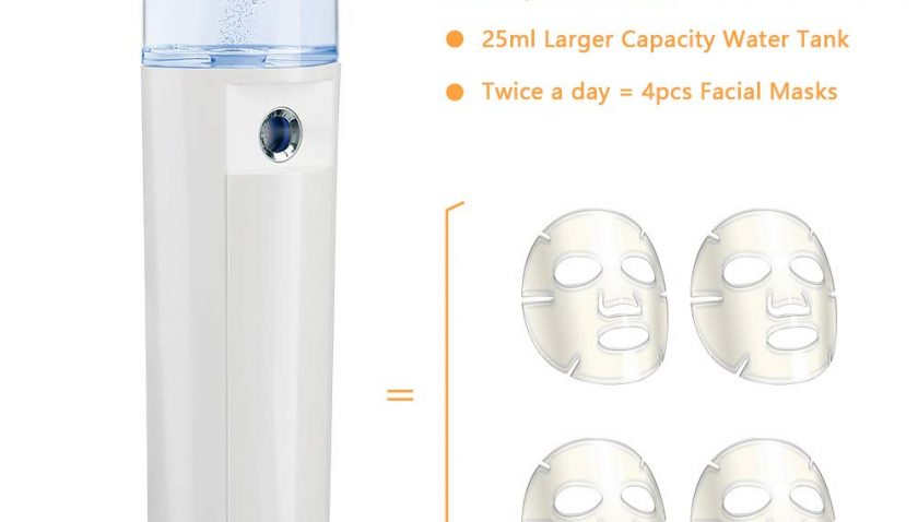 50% Discount for Danas USB Rechargeable Nano Face Steamer, Golden