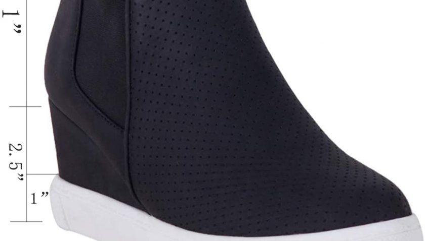 45% off for AOMO LOVE Women's Hidden Platform Wedge Sneakers