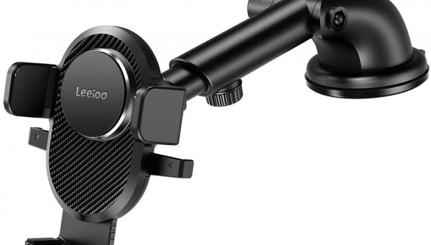 50% Discount for LEEIOO Dashboard & Windshield Mount Car Cell Phone Holder