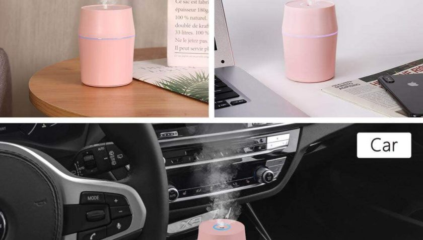 50% off Danas Portable USB 3 in 1 Humidifier (Pink, 200ml)
