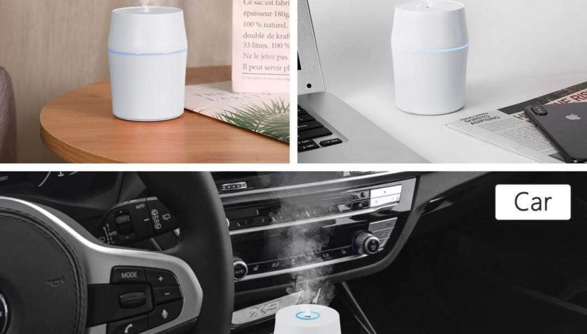 50% off Danas Multifunction Mini Humidifier with Colorful Atmosphere Lamp