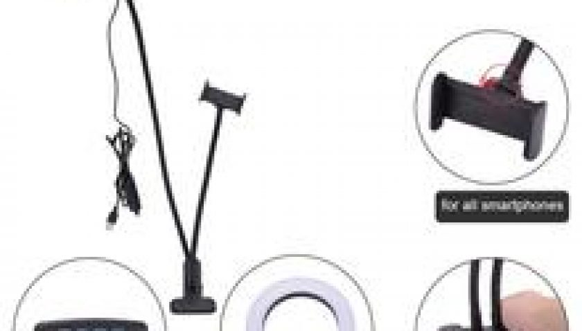 10% Discount for 6 inch Diameter 16cm Live Fill Light Desktop Clip Light