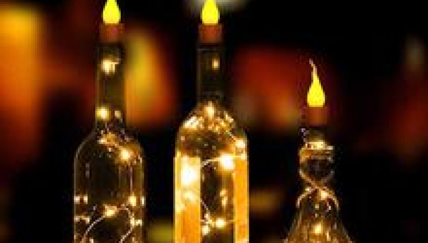 10% Discount for 10x Warm Wine Bottle Candle Shape String Light