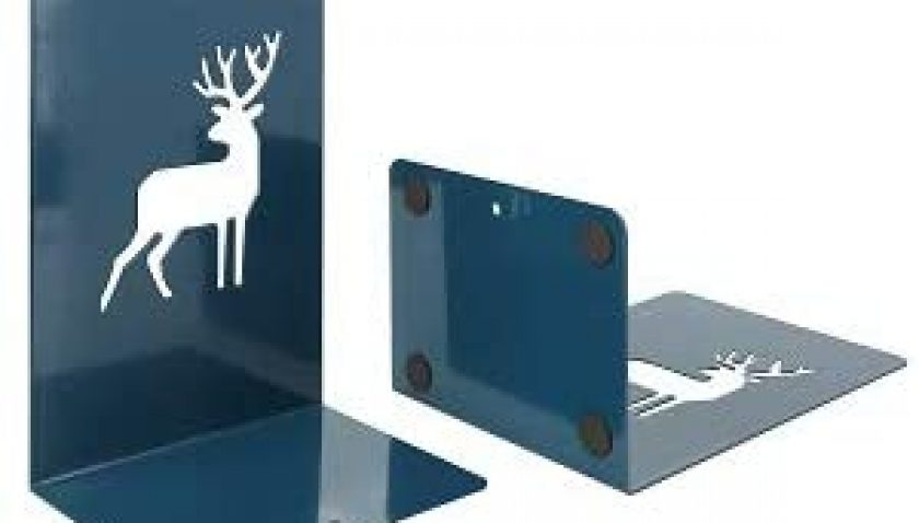 50% Discount for Metal Book Ends, Bookends for Shelves, Heavy Duty Bookends