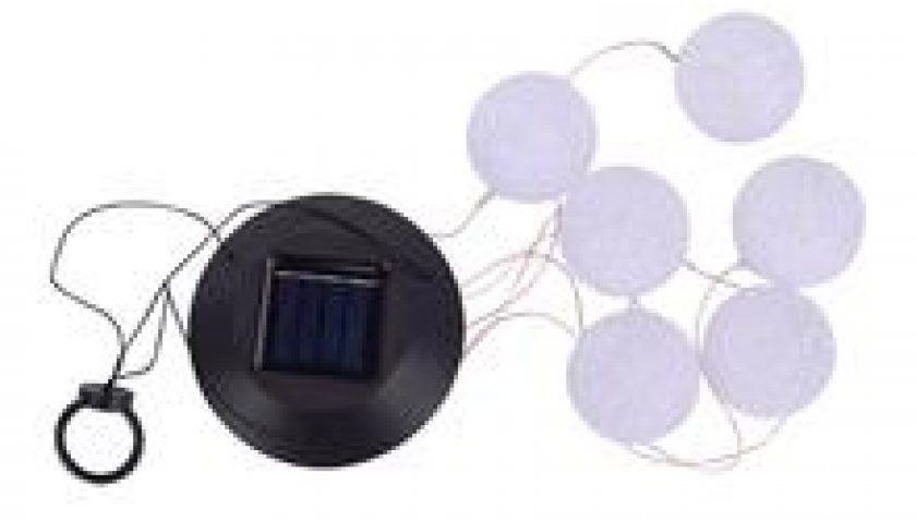 10% Discount for 2V 40maH Solar Smart Light Control Wave Ball Wind Chime Style Corridor Decoration Pendant