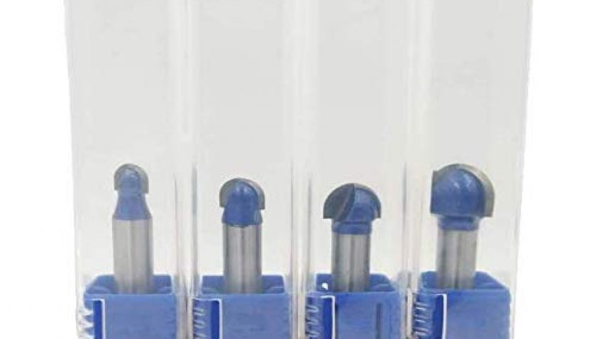 """50% Discount for Global-store 1/4 Inch Shank Core Box Router Bit Set - 1/4"""" 5/16"""" 3/8"""" 1/2"""" Core Box Round Nose Bits"""