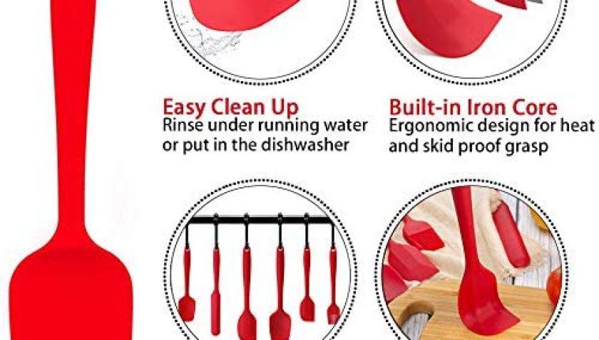 50% Discount for raCa Silicone Spatula Set, 6 Piece Baking Spatula Utensils 500℉ Heat Resistant Non-Stick