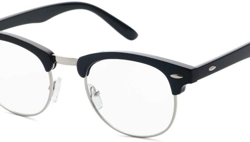 75% Discount for Computer Blue Light Blocking Filter Glasses Round Eyeglasses for Men Women Semi-Rimless Frame