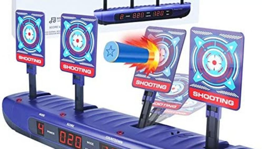 50% Discount for Shooting Targets for Nerf Guns Electronic Scoring Auto Reset Digital Targets Toys