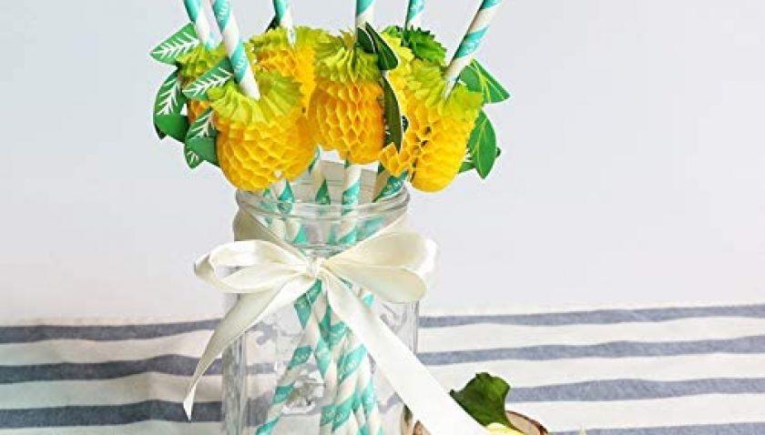 70% Discount for 25pcs Stripe Paper Straws Premium Biodegradable Striped Paper Straws