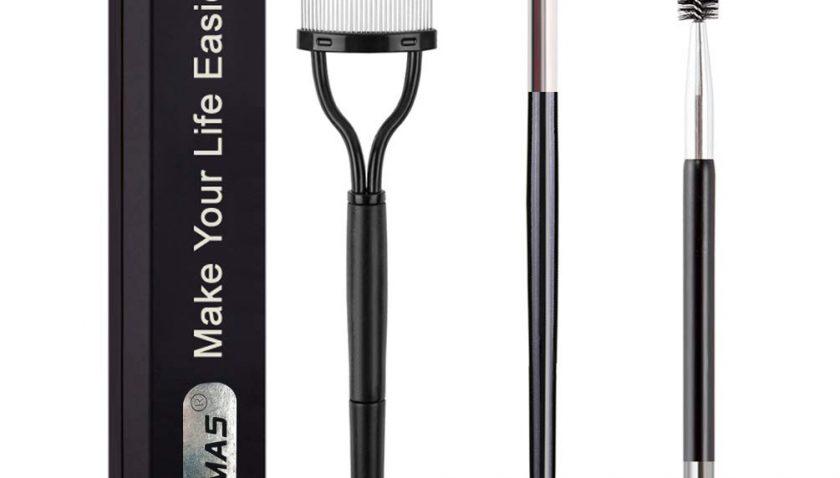 50% Discount for KINGMAS 3Pcs Duo Eyebrow Brush and Spoolie & Eyelash Comb Curlers & Steel Brow Brush