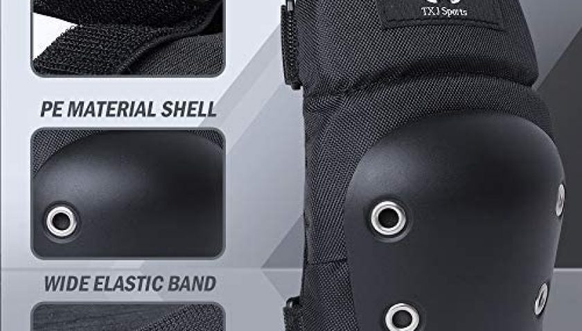 65% Discount for TXJ Sports Adult Knee and Wrist Pads for Skating