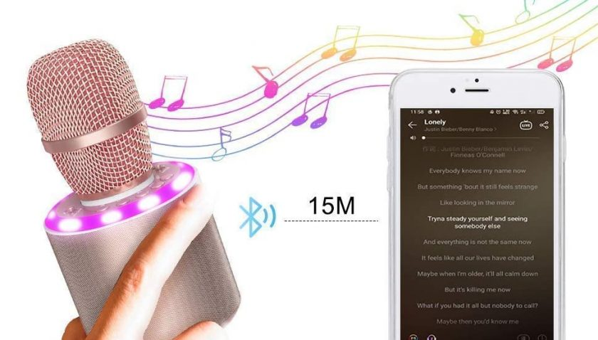 60% Discount for Wireless Bluetooth Karaoke Microphone