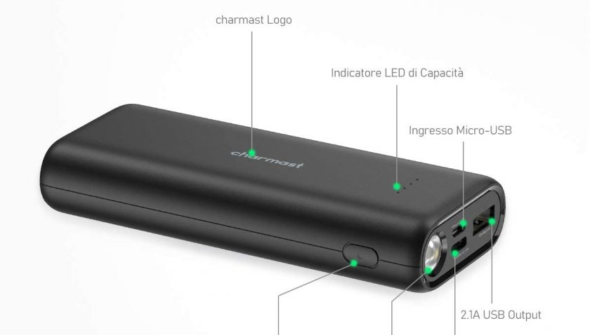 60% Discount for 10000 Portable Charger Pocket-Size with Emergency LED Flashlight Charmast 10000mAh Power Bank External Phone Battery Pack Compatible with iPhone 11 Pro Max XS X 8, Samsung Note 9 More Phones Tablets
