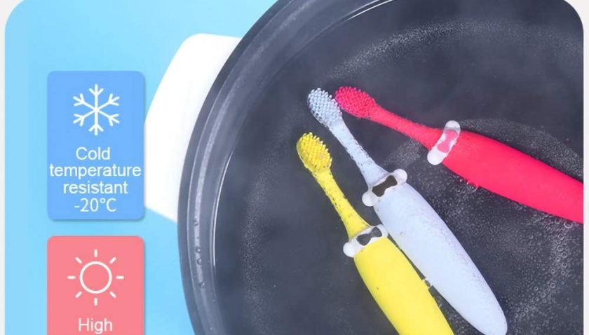 60% Discount for Kids Silicone Toothbrush, 100% Food Grade Silicone
