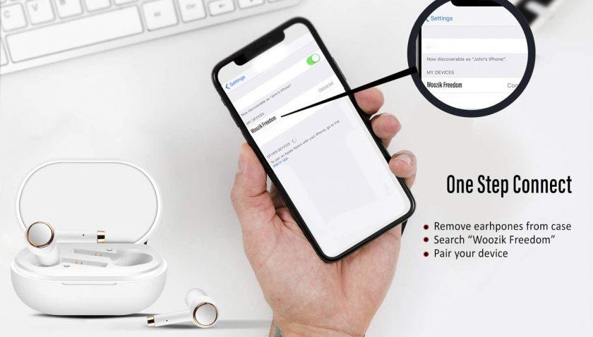 50% Discount for Woozik Freedom True Wireless Earbuds, in-Ear Earphones with Charging Case