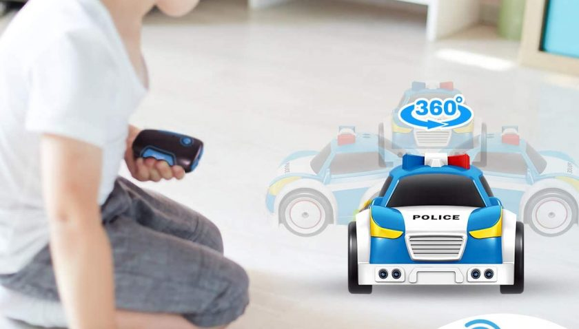 51% Discount for Remote Control Police Car with Light and Sounds Plastic Senser Obstacle Aviodance Vehicle Pretend Play Toys for Boys Girls Toddlers Pickup Truck Toy to Enjoy 3-12 Years Old Birthday Gifts