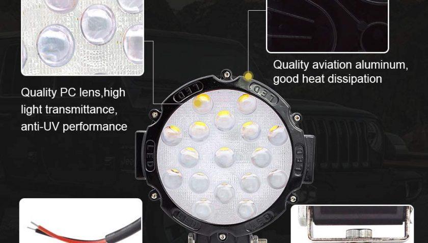 50% Discount for LED Pods Light Bar 7inch Safego 2Pcs 51W
