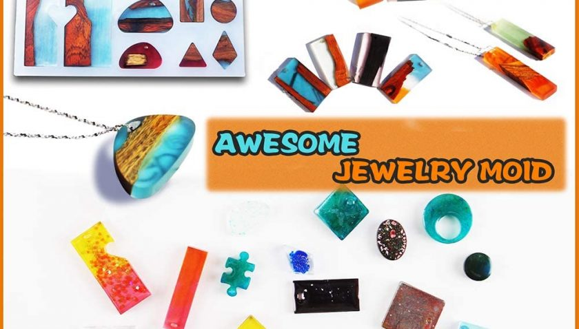 50% Discount for XEVFITN Epoxy Resin Molds Jewelry Making Kit For Beginners