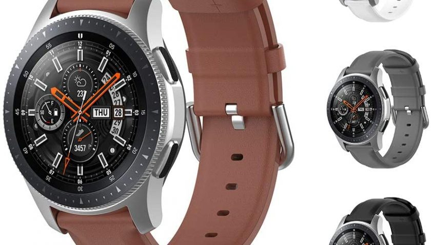 65% Discount for Laband Bands Compatible with Galaxy Watch 3 45mm / Galaxy Watch 46mm / Gear S3 Frontier/Classic, 22mm Genuine Leather Strap for Men and Women