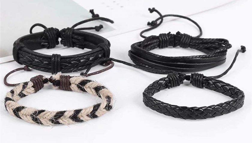 50% Discount for DREZEA Layered Bracelet Set Wave Bracelet Set Multiple Stackable Wrap Adjustable Bangle Jewelry Gift