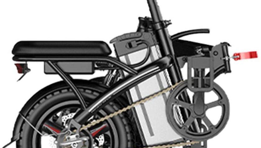 50% Discount for wavsurf 14 Inch Folding E-Bike 250W E-Bike Suitable for Adults and Teenagers 250-Watt High-Performance Motor Max 220KG