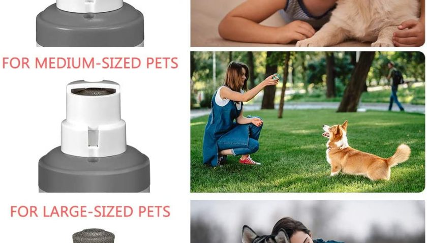 50% Discount for Coralov Dog Nail Grinder,Electric Rechargeable Pet Nail Trimmer with Auto/Manual Mode