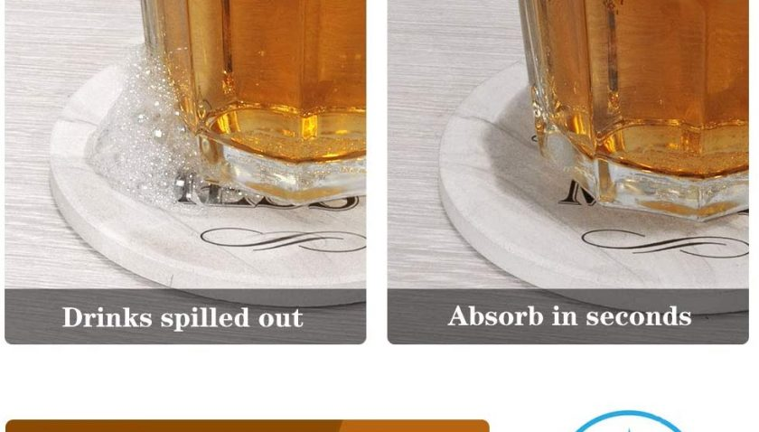 50% Discount for Funria Funny Coasters for Drinks Ceramic Absorbent Coasters