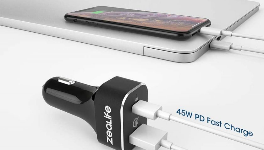 60% Discount for Fast USB C Car Charger, Zealife 63W Type C Car Adapter with Power Delivery