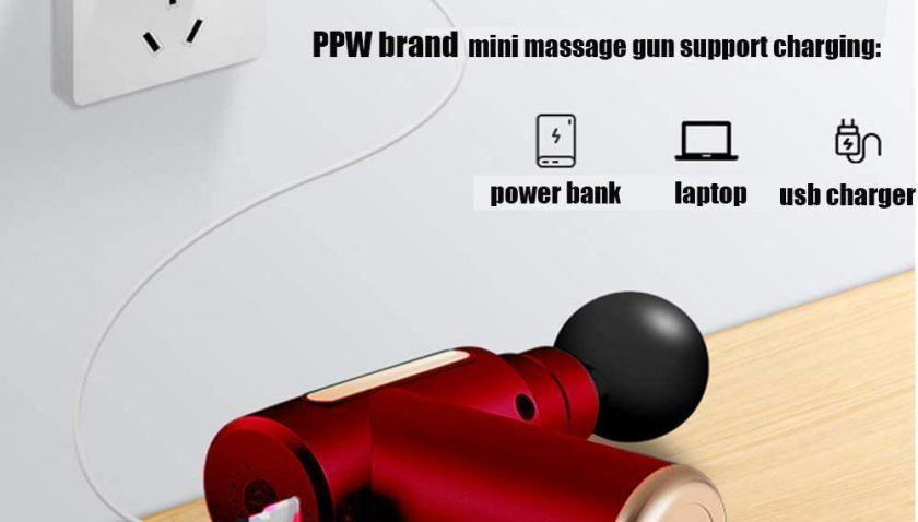 50% Discount for PPW Mini Massage Gun Deep Tissue Massage Gun