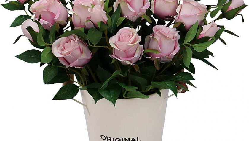 50% Discount for Omygarden Light Pink Artificial Rose Bouquets