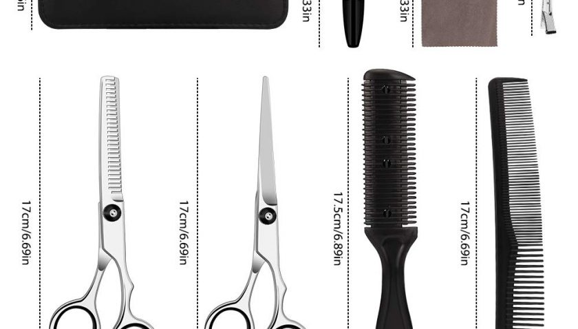 50% Discount for 10 Pcs Hair Cutting Scissors Set Hairdressing Scissors Kit