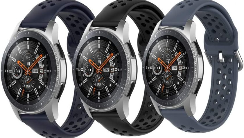 65% Discount for Laband 3 Packs Compatible with Samsung Galaxy Watch 3 45mm / Gear S3 Frontier Classic Watch/Galaxy Watch 46mm, 22mm Silicone Breathable Band with Quick Release