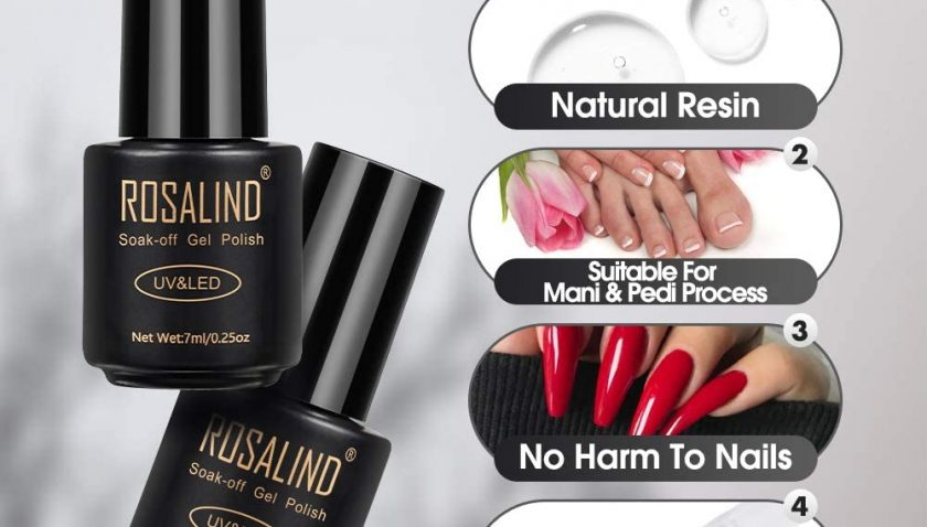 50% Discount for Rosalind Gel Nail Polish Kit 2 Colors 7ml