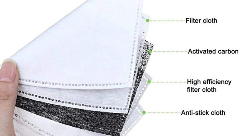 50% Discount for 100pcs 5 Layer Activated Carbon Sheet Insert Replaceable Sheets Ship from USA