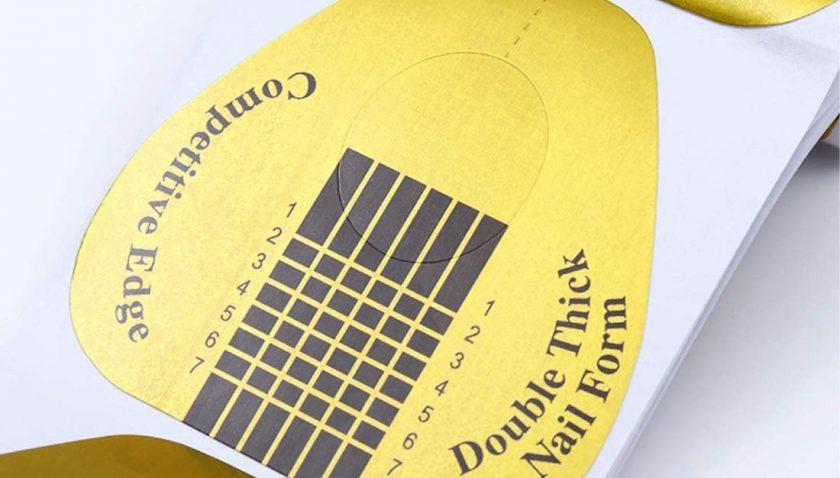 70% Discount for KINGMAS 300 Pcs Horseshoe-shaped Nail Art Acrylic Nail GEL Nail Extention Tips Form Guide Sticker