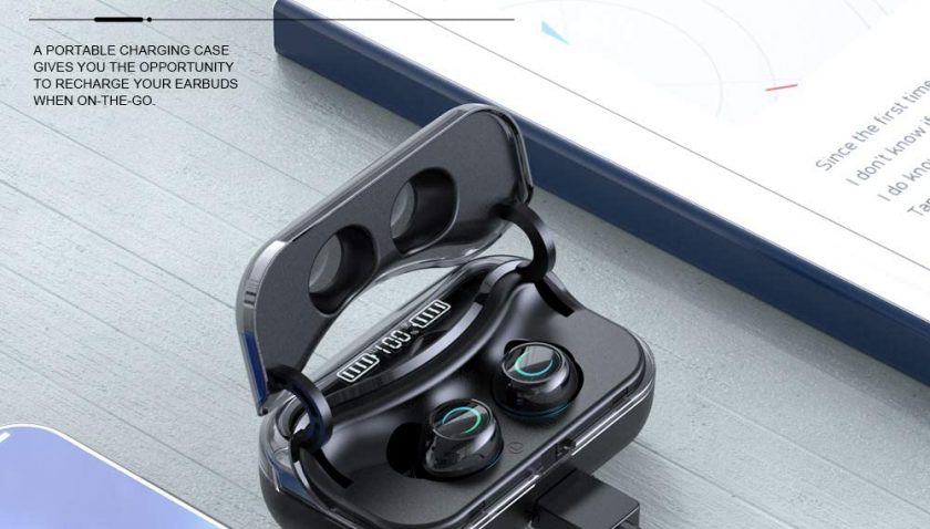 50% Discount for Bluetooth 5.0 Wireless Earbuds with Wireless Charging Case