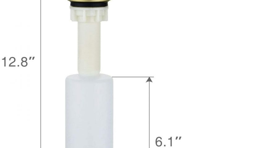 50% Discount for Peppermint Built in Kitchen Sink Soap and Lotion Dispenser Polished Brass in Counter Pump Champagne Gold
