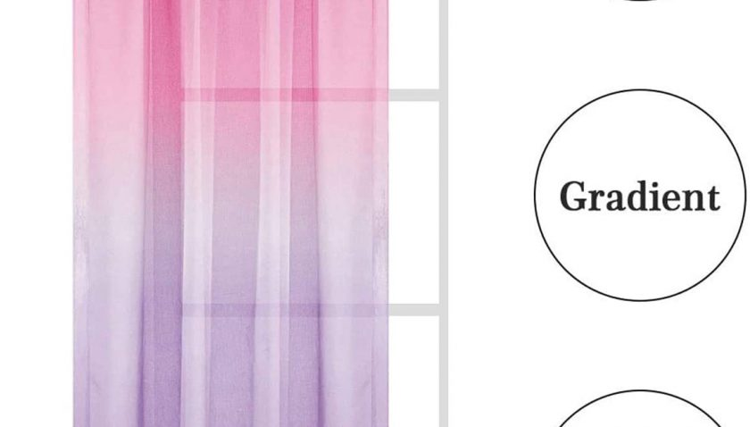 50% Discount for Ombre Linen Semi Sheer Window Curtains Drapes Elegant for Kids Bedroom