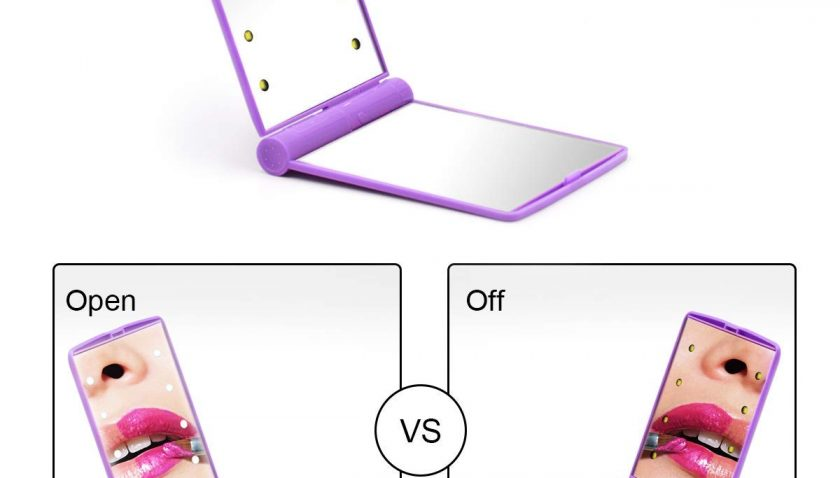 50% Discount for WOWCUTE Lighted Travel Makeup Mirror