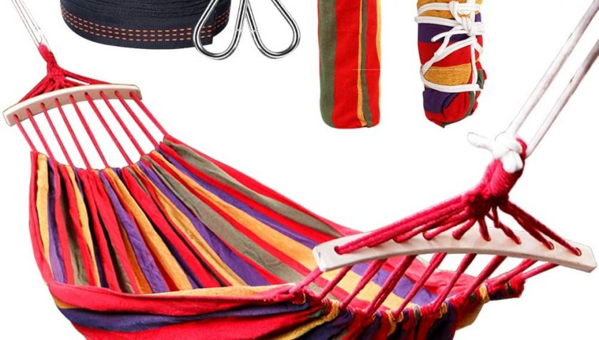 50% Discount for Rusee Double 2 Person Cotton Fabric Canvas Travel Hammocks
