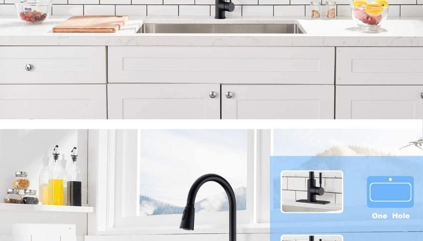 50% Discount for Kitchen Faucet,Black Kitchen Faucet with Sprayer