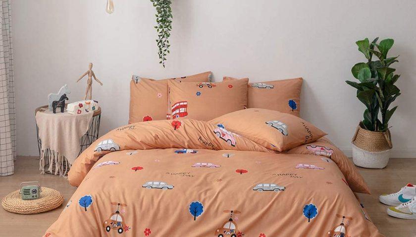 50% Discount for Mozeo 3 Pieces Kids Duvet Cover Set Queen