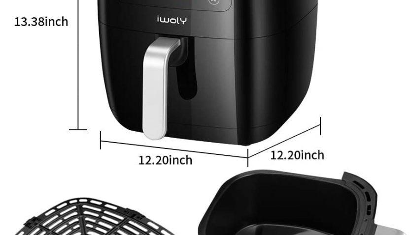 30% Discoun for iwoly Air Fryer, 6.3QT Electric Hot Air Fryers Oven 1700W Oilless Cooker