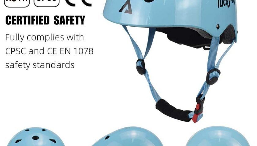 50% Discount for Lucky-M Kids Protective Gear Set Boys Girls Adjustable Size Helmet with Knee Pads Elbow Pads Wrist Guards for Skateboard Cycling Hoverboard Scooter Rollerblading