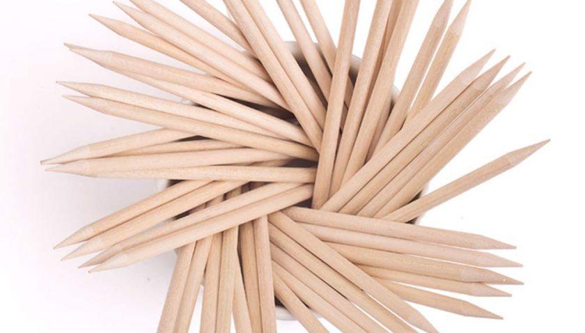50% Discount for KINGMAS 100 Pcs Nail Art Orange Wood Stick
