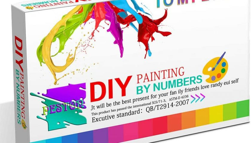 50% Discount  for PESTON DIY Paint by Numbers Kit for Kids & Adults Beginner